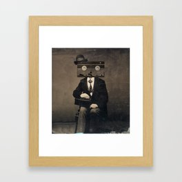 Faces of the Past: VHS Framed Art Print