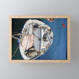 Moored Fishing Boat Framed Mini Art Print