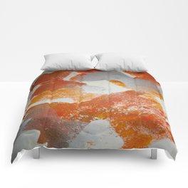 Pasta in repeat pattern Comforters