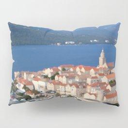 Croatia Harbor Pillow Sham