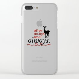 Harry Potter Severus Snape After all this time? - Always. Clear iPhone Case
