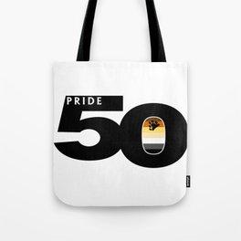 50 Pride Gay Bear Pride Flag Tote Bag
