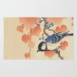Ohara Koson - Japanese Bird Blockprint Rug