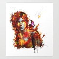 lara croft Art Prints featuring Lara Croft by ururuty