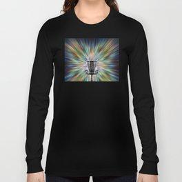 Disc Golf Basket Silhouette Long Sleeve T-shirt