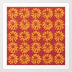 Oranges seamless pattern Art Print