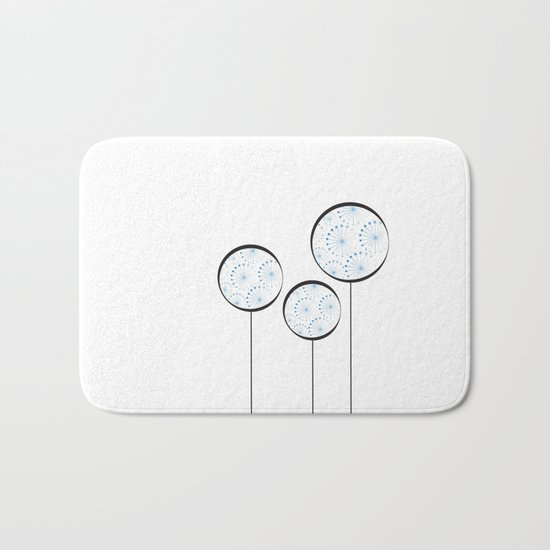 Abstract Dandelion Bath Mat