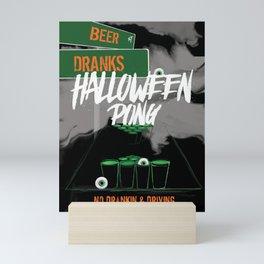 Halloween Pong Decor Mini Art Print
