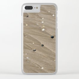Pebbles and Sand Clear iPhone Case