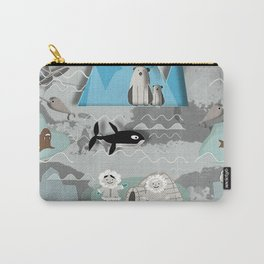Arctic animals grey Carry-All Pouch
