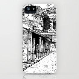 Herculaneum Courtyard iPhone Case