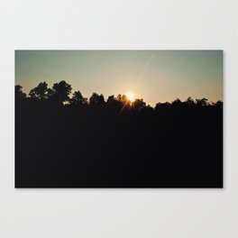 Sunset at Sloan's Pond Canvas Print
