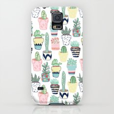 Cute Cacti in Pots Slim Case Galaxy S5