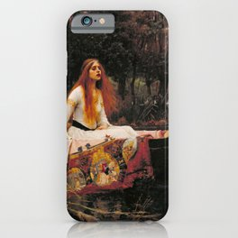 John William Waterhouse The Lady Of Shallot Restored iPhone Case