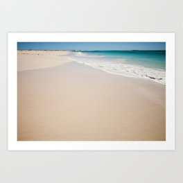 white sandy beach Art Print