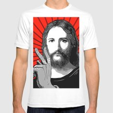 Jesus Bane #00 White Mens Fitted Tee LARGE