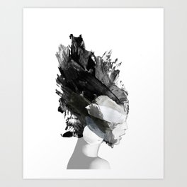 FREYA The Lady ABSTRACT ART Art Print