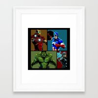 avenger Framed Art Prints featuring Avenger Team by Carrillo Art Studio
