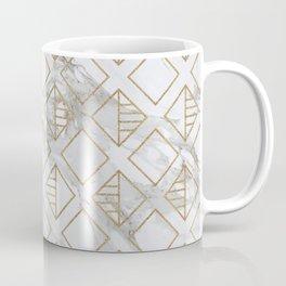 Marble and gold geometric Coffee Mug