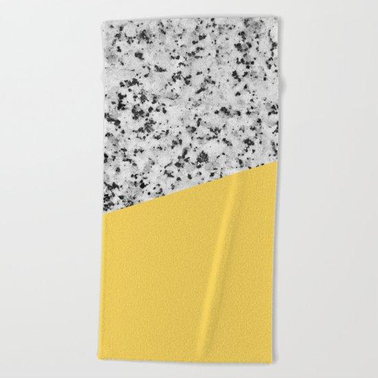 Granite and primrose yellow color Beach Towel