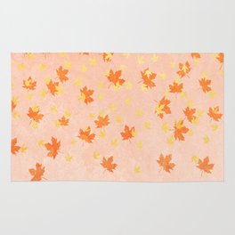 My favourite colour: Gold OCTOBER - Indian Summer - Rose Gold autumnal leaves Rug