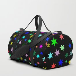 Stars on black ground Duffle Bag
