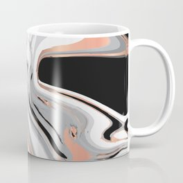 Liquid Marble with Copper Lines 015 Coffee Mug