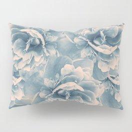 Blush Blue Peony Flower Bouquet #1 #floral #decor #art #society6 Pillow Sham