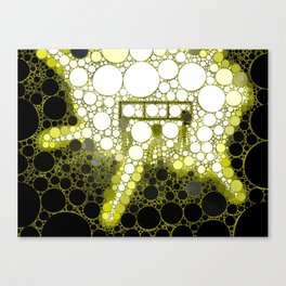 """Alien Landing Party - from """"Further Back"""" series Canvas Print"""