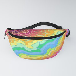 Line Squiggles 2 Fanny Pack