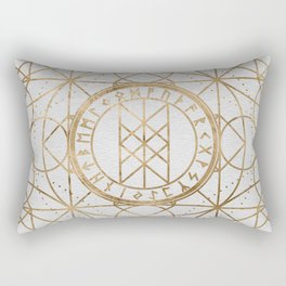 Web of Wyrd The Matrix of Fate - Pastel Gold Rectangular Pillow