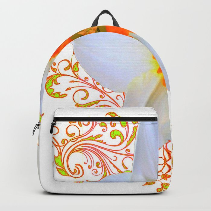 SPRING DAFFODIL SCROLLS ART GARDEN PATTERN Backpack