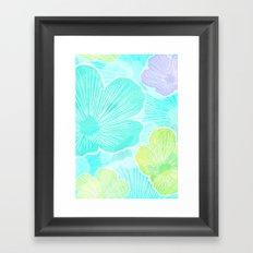 Happy flower Framed Art Print