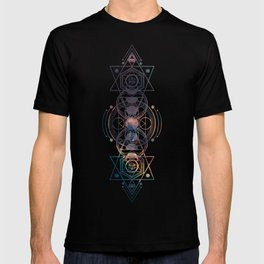 Dark Moon Phase Nebula Totem T-Shirt
