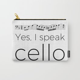 I speak cello Carry-All Pouch