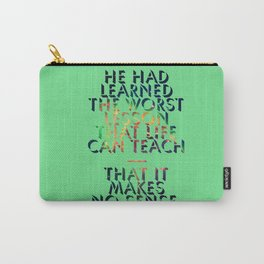 Literary Quote Poster — American Pastoral by Philip Roth Carry-All Pouch