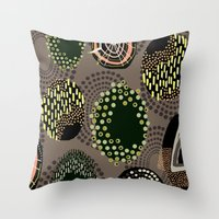 eggs Throw Pillows featuring Eggs by Aubree Eisenwinter