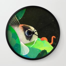 finding tubifex Wall Clock