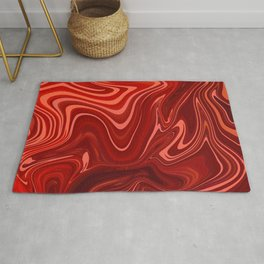 Marble Bloody Red Design Art Rug