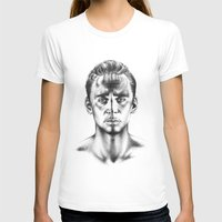 tom hiddleston T-shirts featuring Tom Hiddleston 3 by aleksandraylisk