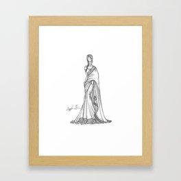 Sari Beauty Framed Art Print