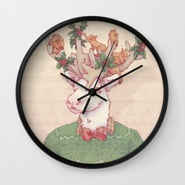 Dasher le Renne Wall Clock