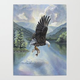 Eagle with Fish Poster