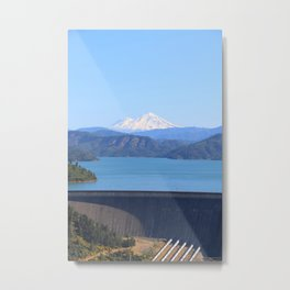 Mount Shasta and Shasta Lake Metal Print