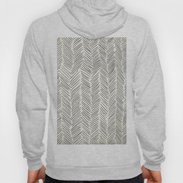 Herringbone Black on Cream Hoody