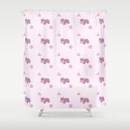 Hippo Shower Curtain