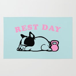 Rest Day Frenchie Rug