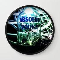 vodka Wall Clocks featuring Absolut Vodka by Rothko