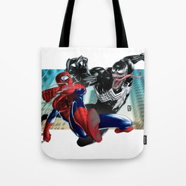 Spider-Man vs Venom Tote Bag