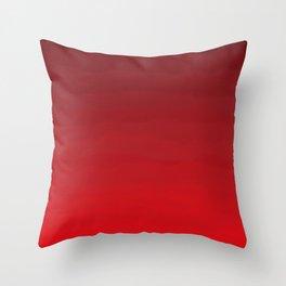 Glowing Garnet Gradient Throw Pillow